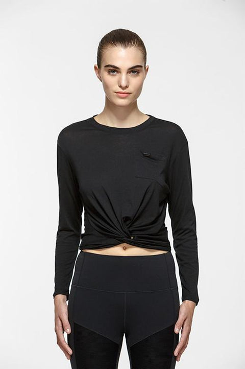 Twist Crop Long Sleeve Tee - Titika Active Couture™ (Hong Kong)