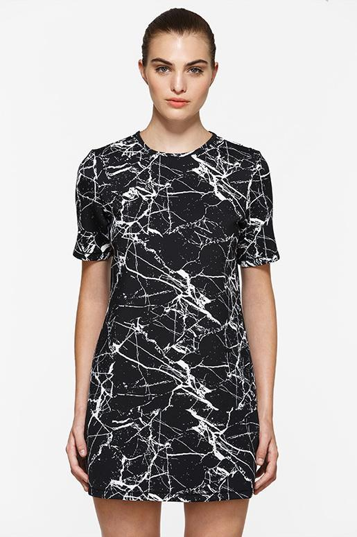 Short Sleeve Marble Graphic Dress - Titika Active Couture™ (Hong Kong)