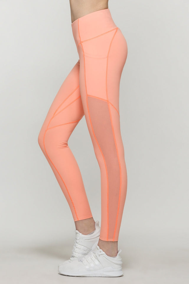 Compress Mesh Cropped Leggings