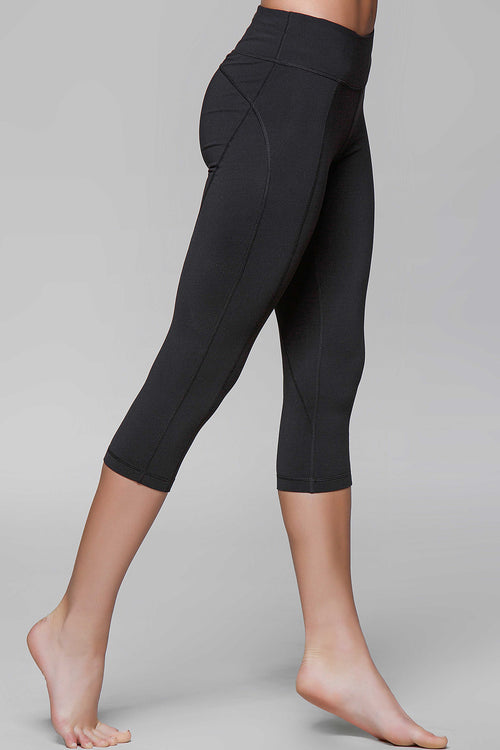Diva Black Crop Legging