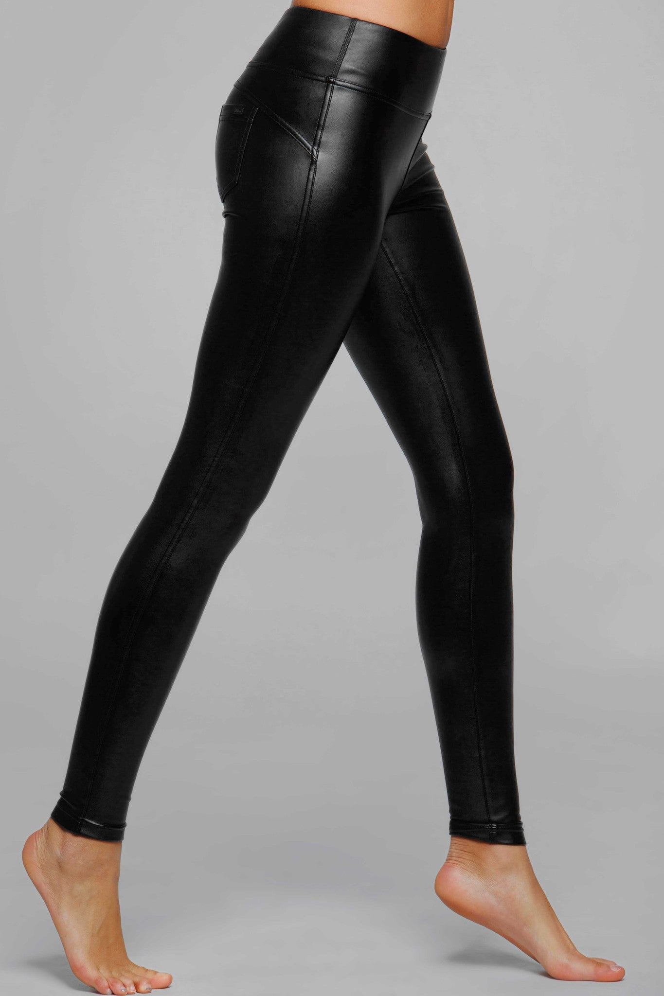 Diva Vegan Leather Fleece Legging