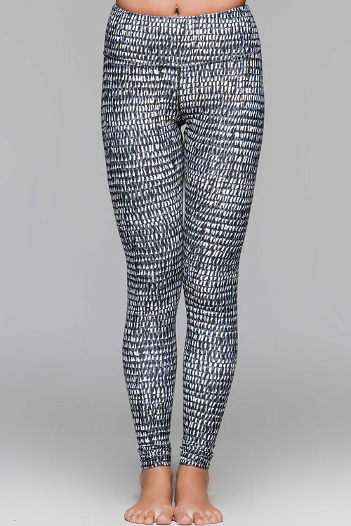 Lucky Graphic Brush Stroke Leggings - SALE