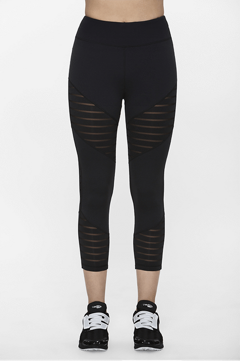 Track Cropped Leggings - Titika Active Couture™ (Hong Kong)