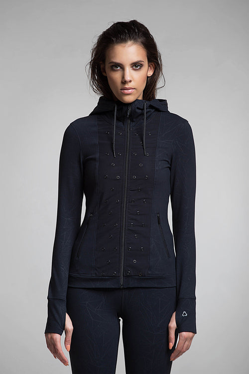 Stud Performance Zip-Up Sweater
