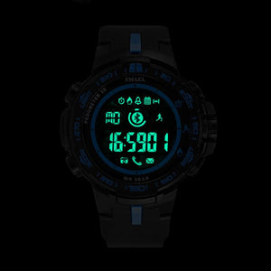 Digital Watch - The Buffed™  LED Military Sports Pedometer Calorie Men's Watch