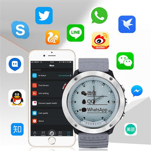 Digital Watch - The Sky Blue™ Unisex Bluetooth Health Monitor Double Display Watch