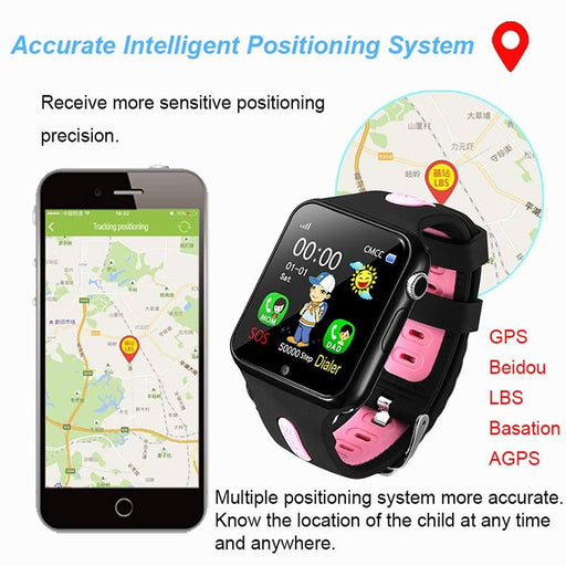 GPS Tracker - The V5 Kid™ Children's Smart Watch GPS Tracker & Secure