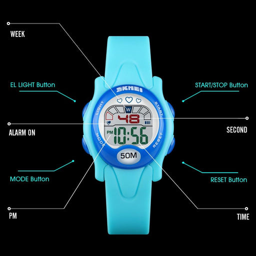 Kid's Fashion Watch - The Jell Children™ Waterproof Digital Sports Watch For Kids