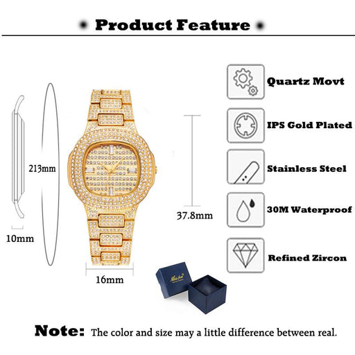 Luxury Watches For Women - The Diamond™ Luxury Women Wristwatch