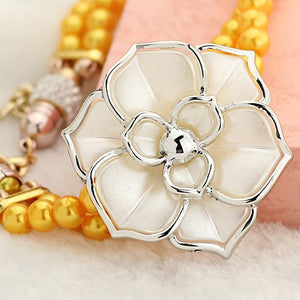 Luxury Watches For Women - The Flowers & Pearl™ New Fashion Bangle Bracelet Watch For Women