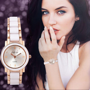 Luxury Watches For Women - The GoLou™ Ladies Fashion Rhinestone Leather Watch