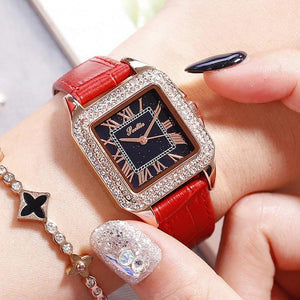 Luxury Watches For Women - The Luxurious Rhinestone™ Top Brand Square Women's Fashion Watches