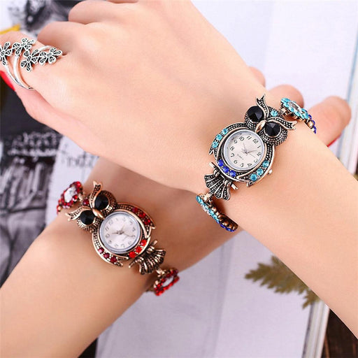 Luxury Watches For Women - The Owl™ Female Owl Designed Bracelet Watches For Women