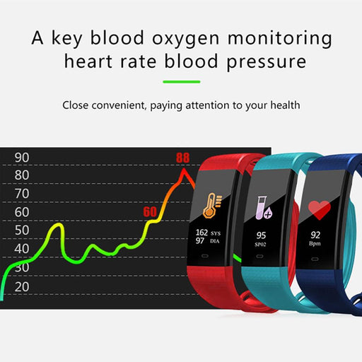 Portable LED Pulse Oximeter And Heart Monitoring Smart Wrist Watch With Oximeter