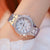 Sparkling Rhinestones With Stainless Steel Quartz Watch