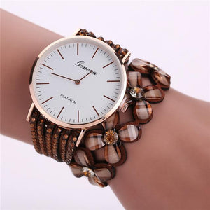 Watches - Elegant Bracelet Watch With Floral Design For Women
