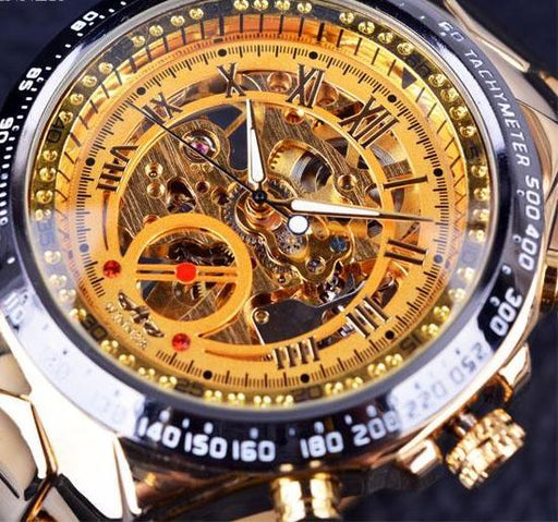 Watches - Luxury Golden Skeleton Design Men's Watch