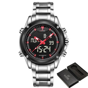Watches - The Army™ Waterproof Analog LED Stainless Steel Watch