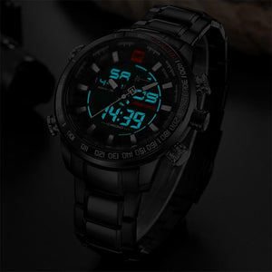 Watches - The Force™ Analog Digital Stainless Watch