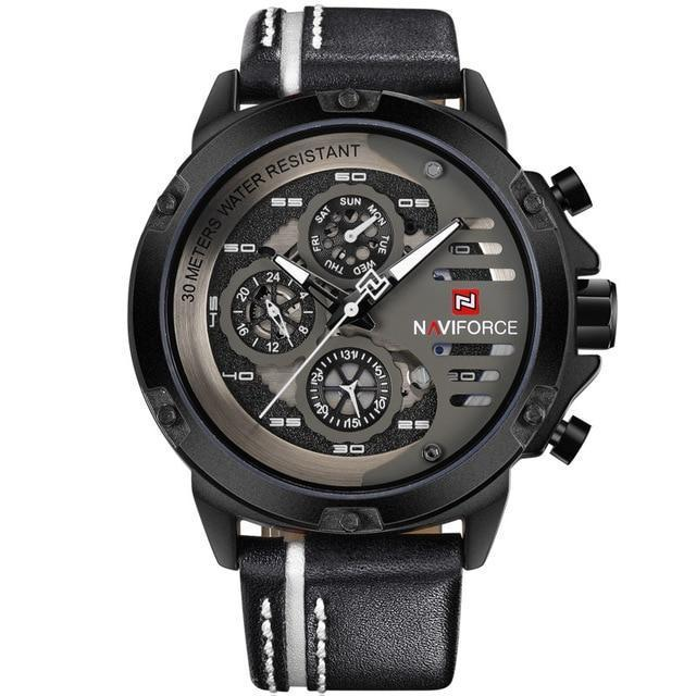 Watches - The Sport™ Waterproof 24 Hour Date Quartz Leather Watch
