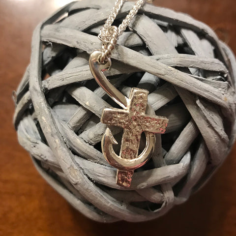 Hook & Cross Necklace