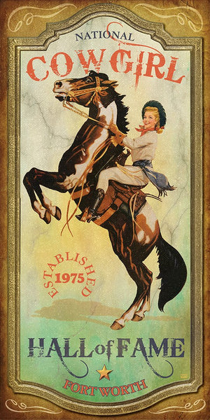 Cowgirl Hall Of Fame - Texas Art Posters