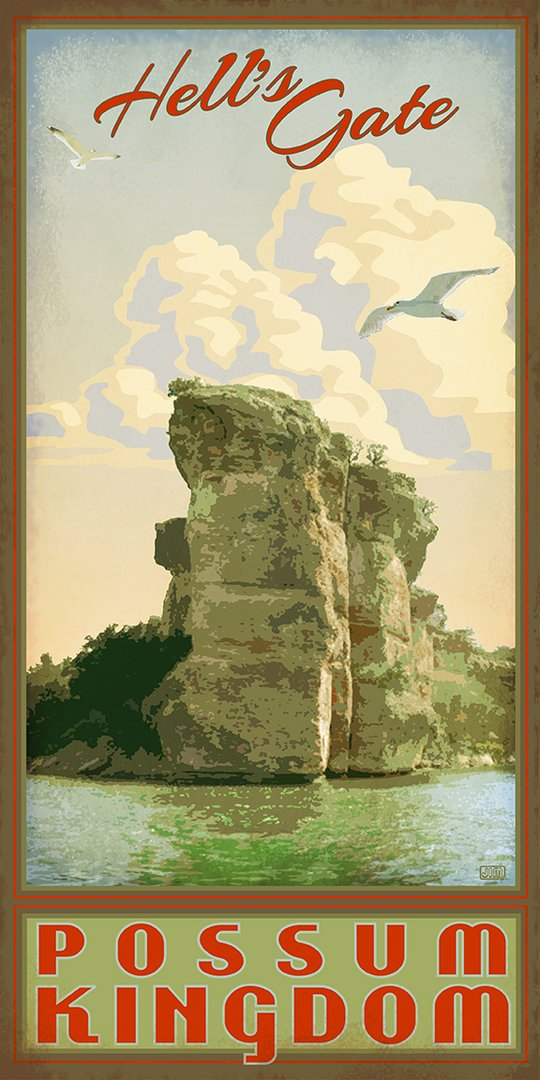 Possum Kingdom State Park - Texas Art Posters