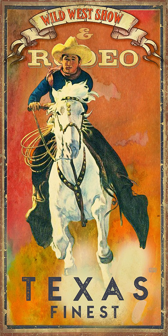 Texas Finest Rodeo - Texas Art Posters