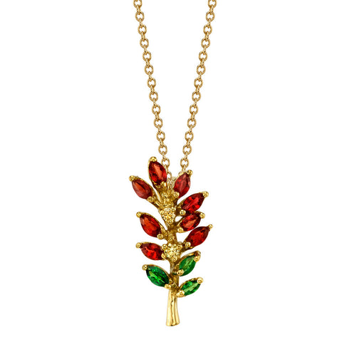 Indian Paintbrush Pendant
