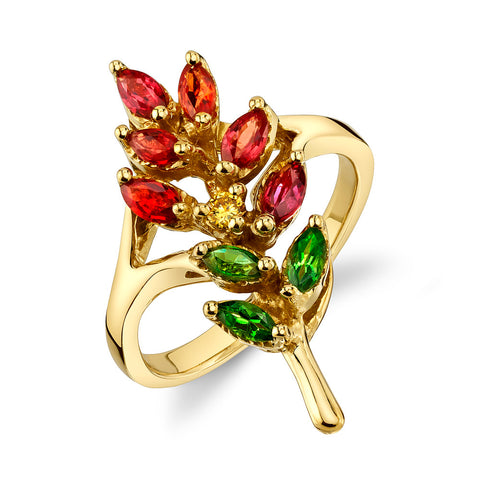 Indian Paintbrush Ring