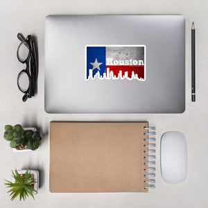 Houston Texas Flag Skyline Stickers