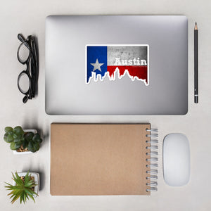 Austin Texas Flag Skyline Stickers