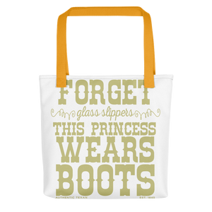 Princess Boots Tote bag