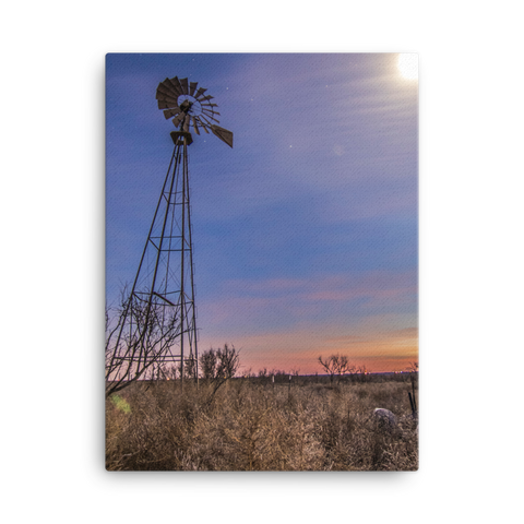 West Texas Full Moon Canvas