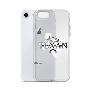 Authentic Texan Clear iPhone Case