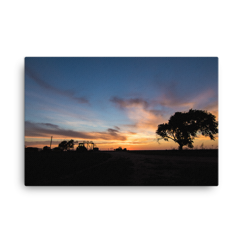 Sunset on the Farm Canvas