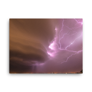 Supercell Wrapped in Lighting Canvas