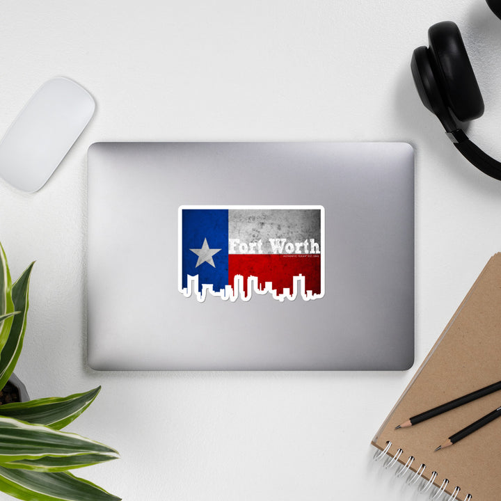 Fort Worth Texas Skyline Stickers