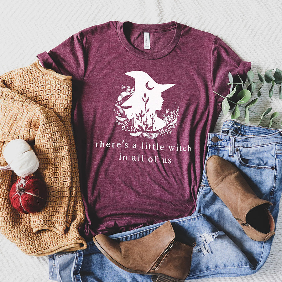There's A Little Witch In All Of Us Tee Shirt