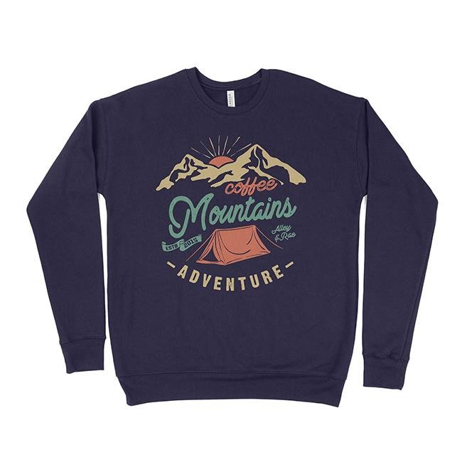 Coffee Mountains Adventure Unisex Sweatshirt - Alley & Rae Apparel