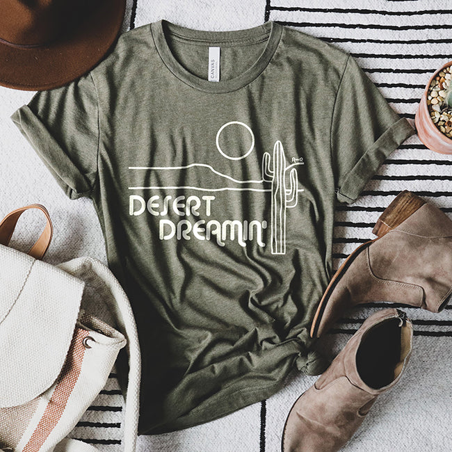Desert Dreamin' Women's Graphic Tee Shirt by Alley & Rae Apparel