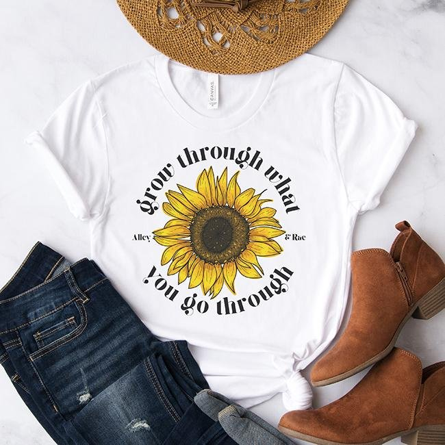 Grow Through What You Go Through Tee - Alley & Rae Apparel