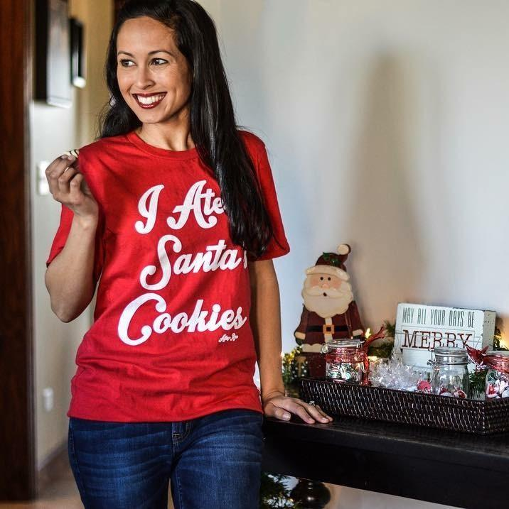 I Ate Santa's Cookies Tee - Alley & Rae Apparel