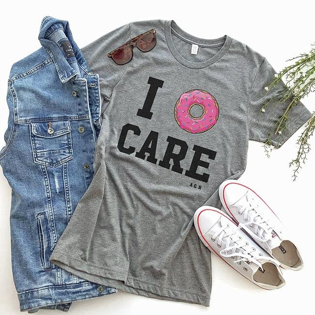 I Donut Care Triblend Tee - Alley & Rae Apparel