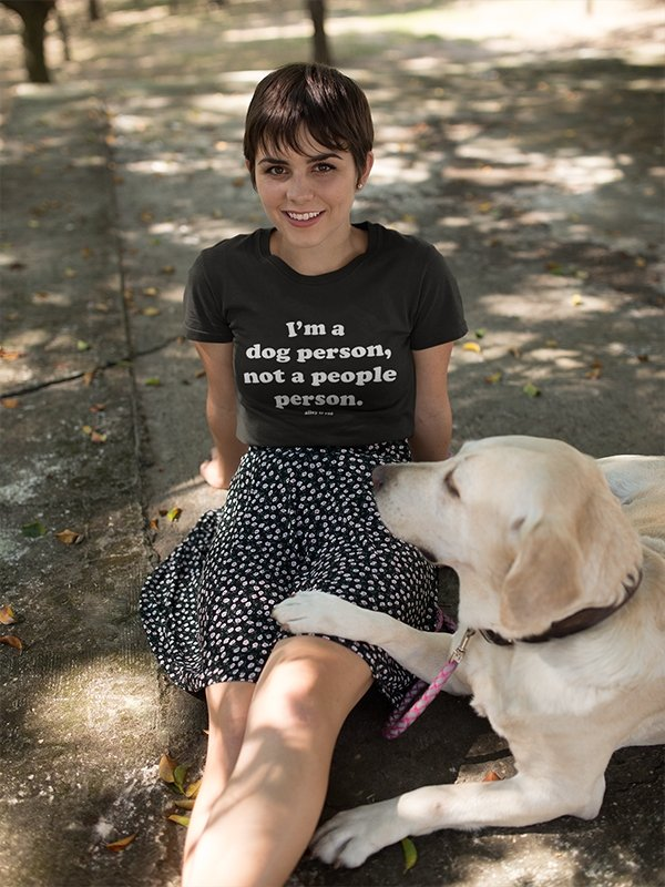 I'm A Dog Person, Not A People Person Tee - Alley & Rae Apparel