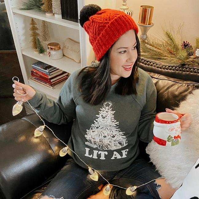 Lit AF Sweatshirt - Alley & Rae Apparel