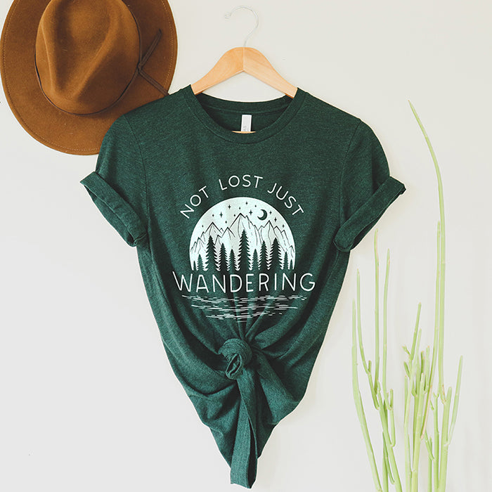 Not Lost Just Wandering Tee Shirt