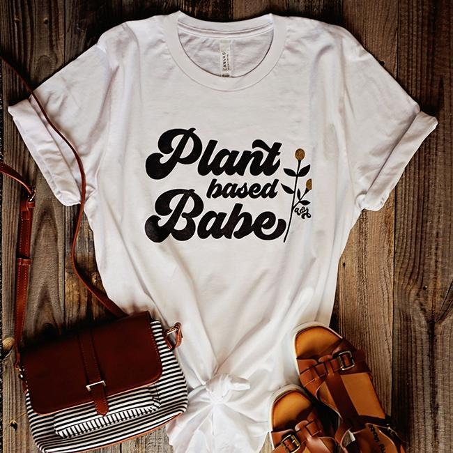 Plant Based Babe Tee - Alley & Rae Apparel