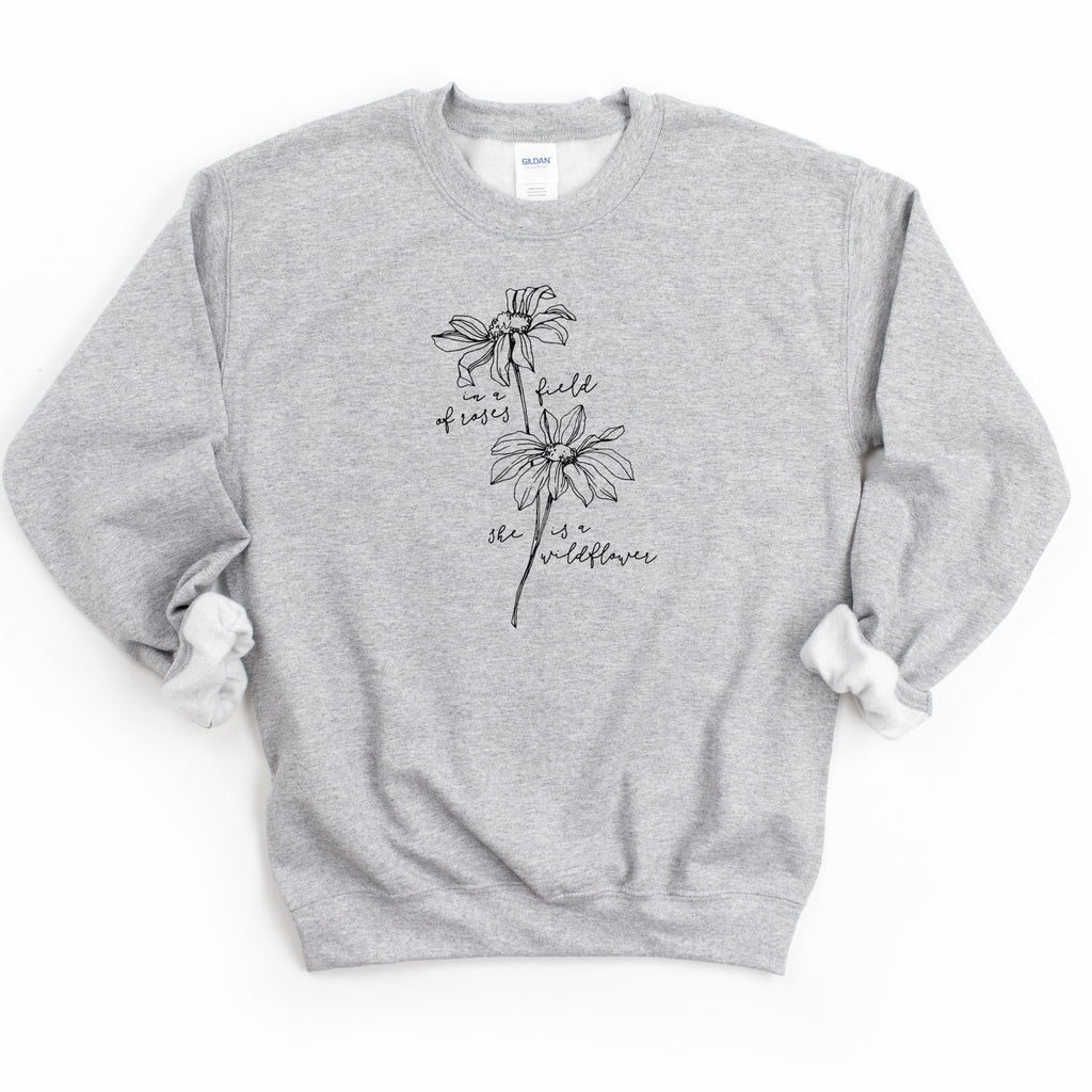 She Is A Wildflower Sweatshirt - RTS - Alley & Rae Apparel
