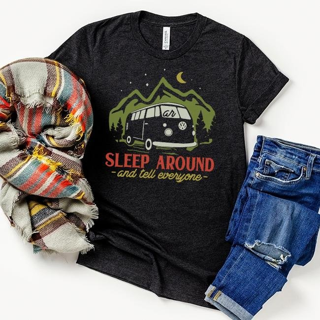 Sleep Around And Tell Everyone Tee - Alley & Rae Apparel